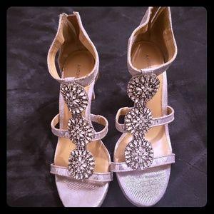 Strappy silver sandals
